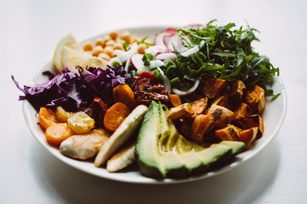 Regenbogensalat mit Poulet-15