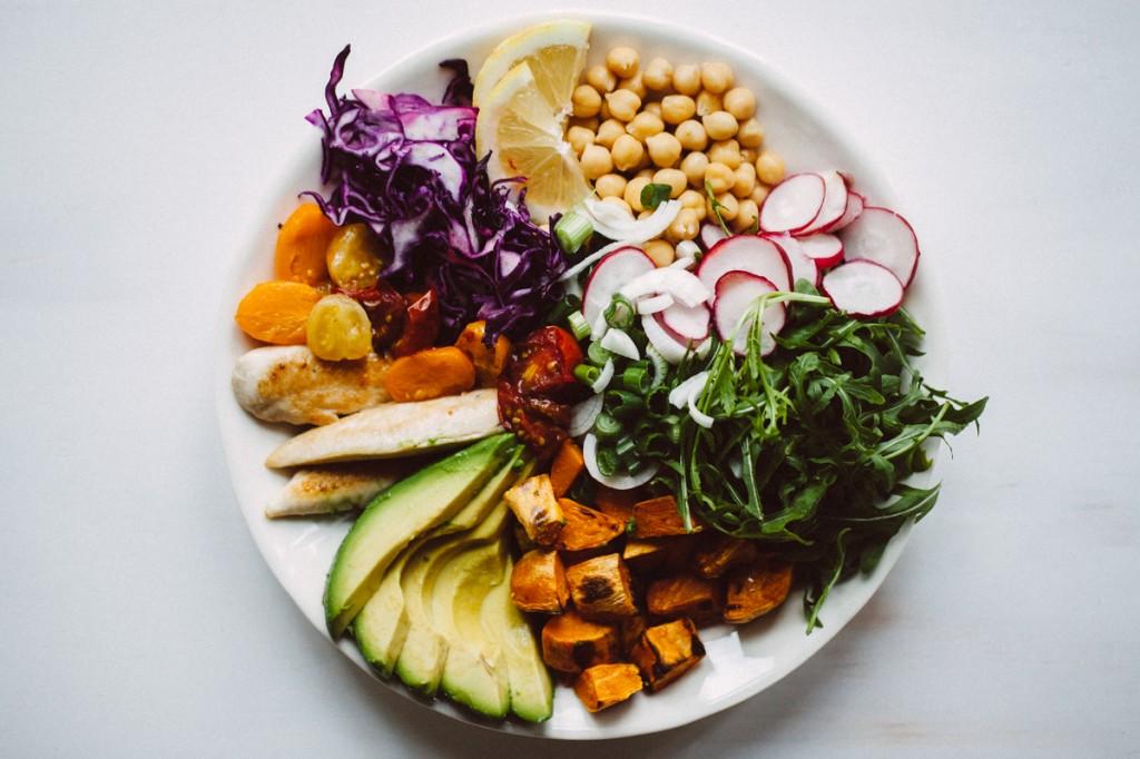 Regenbogensalat mit Poulet-6