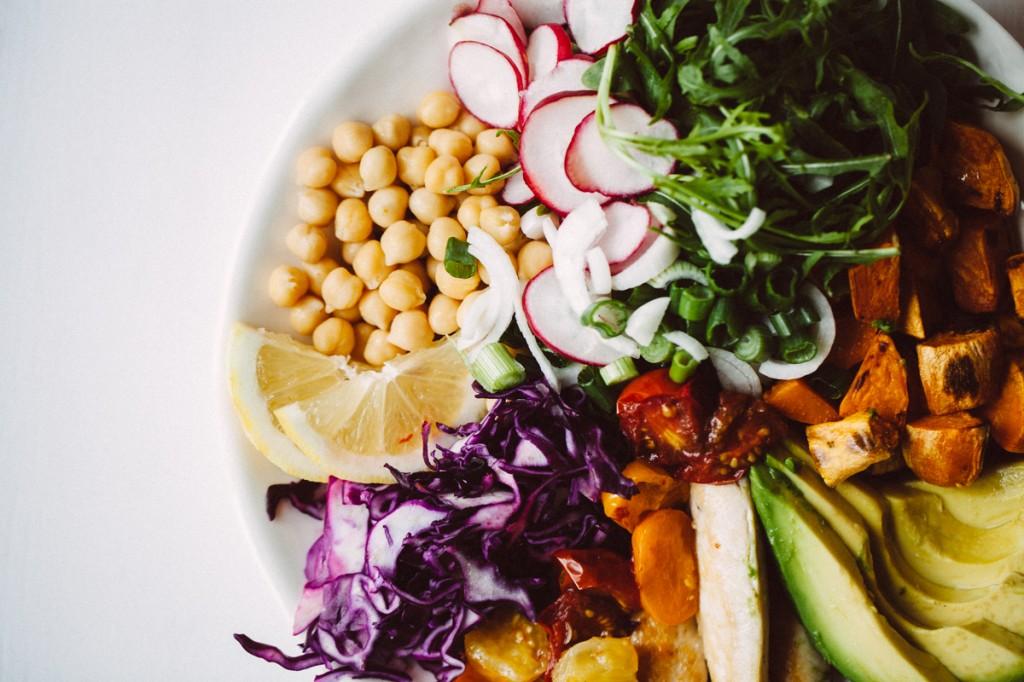 Regenbogensalat mit Poulet-8