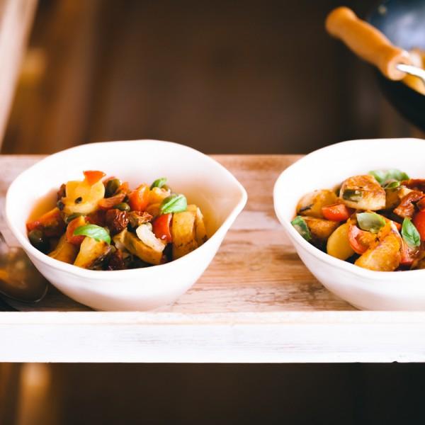 Kartoffelpfanne mit Kapernäpfel