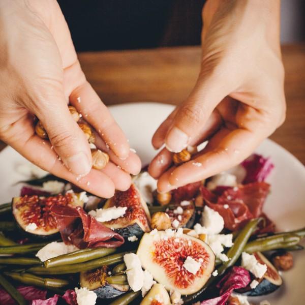 Bohnensalat mit Feigen