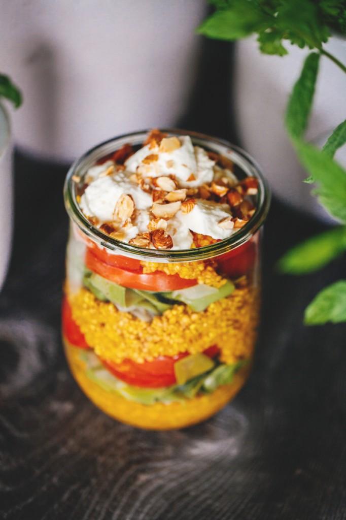 Bulgursalat mit Safran und Büffelmozzarella-1
