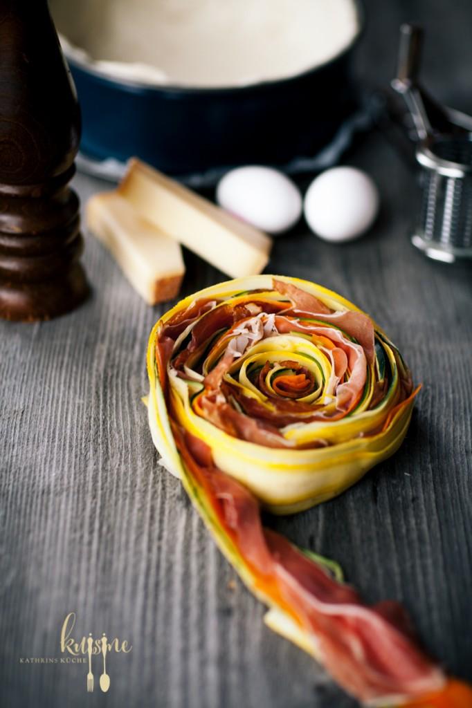 Gerollter Gemüsekuchen-4