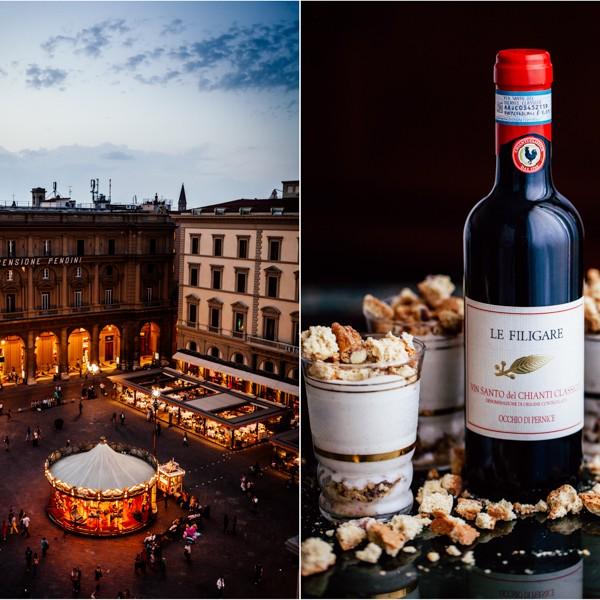 Vin Santo Crème und Florenz bei Nacht
