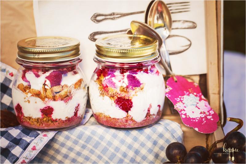 Cheesecake im Glas und Picknick