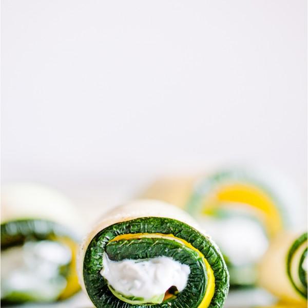 Zucchini-Röllchen - Zucchini roll-ups