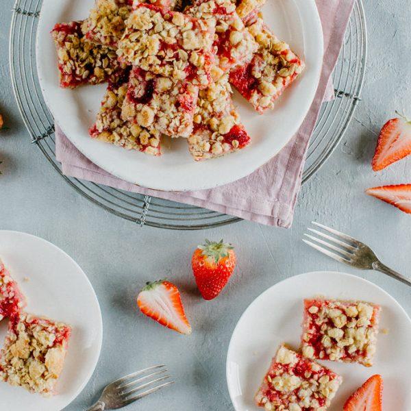 Erdbeeren Streusel Schnitten